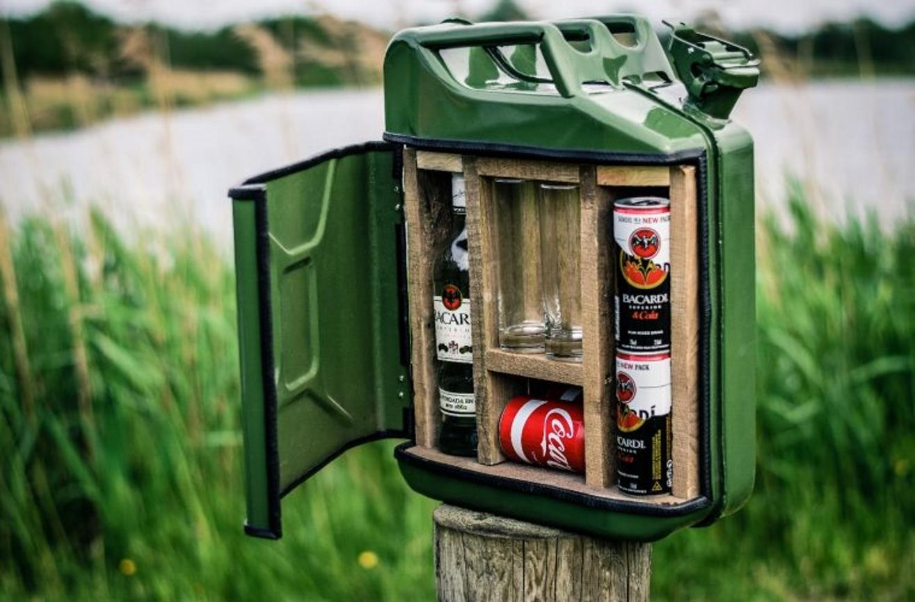 jerry can mixed drink bar